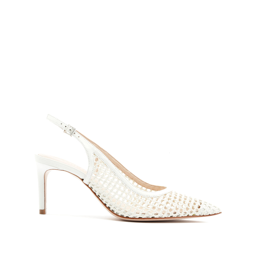 Mica Pump in White