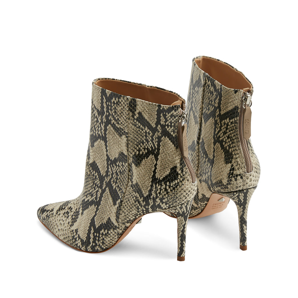 Michela Bootie in Natural Snake