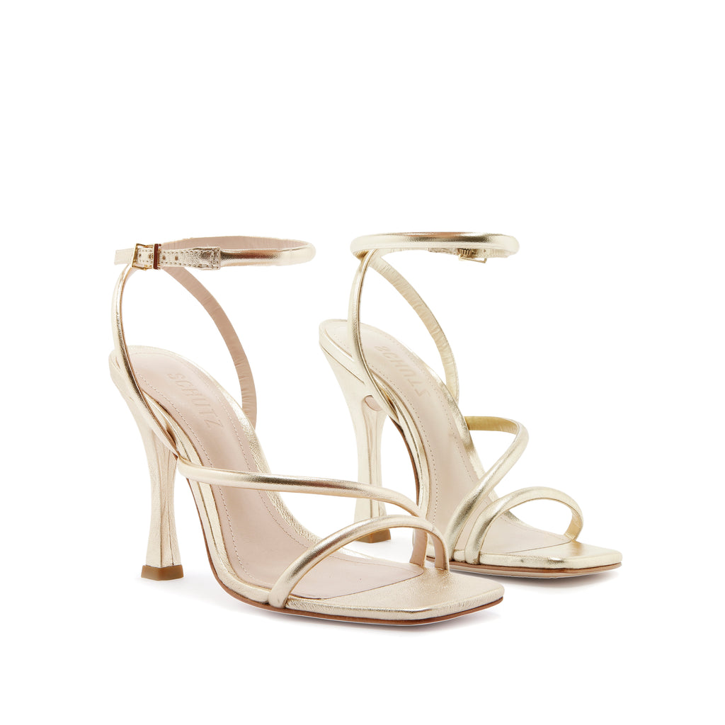 Polaina Sandal in Platina Gold