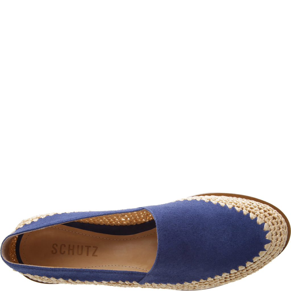 Queenie Flat in Dress Blue
