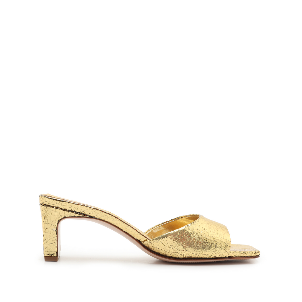 Queliana Sandal in Ouro Gold