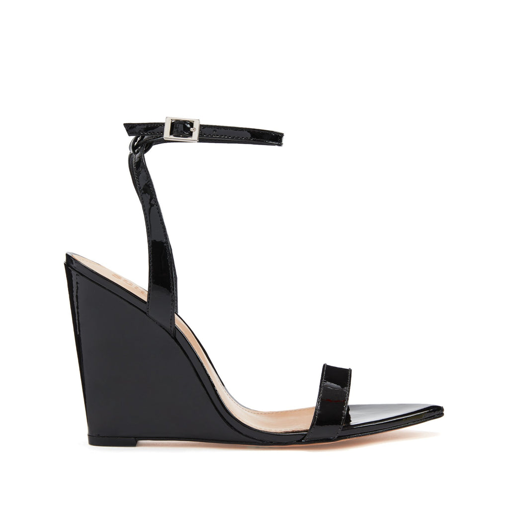 Raquel Wedge Sandal in Black