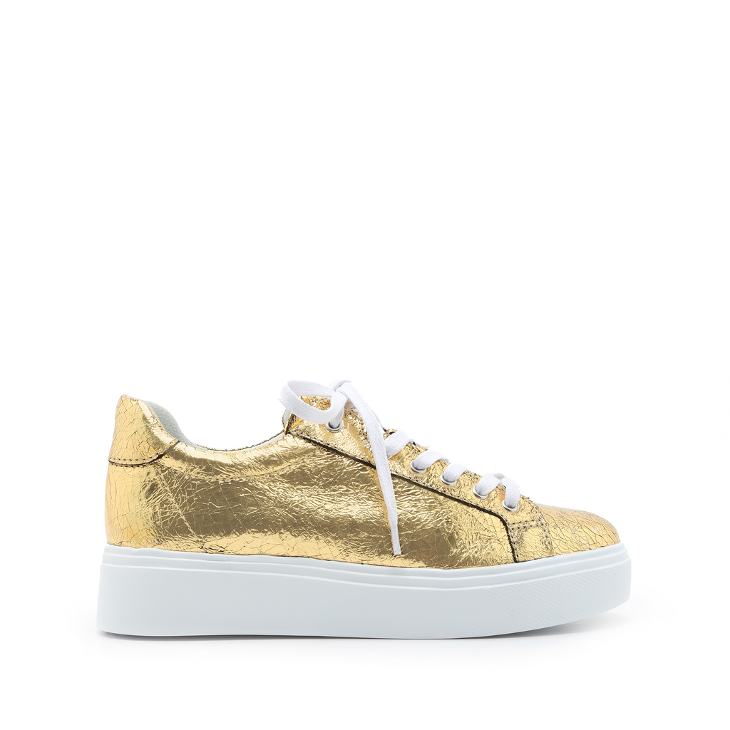 Raver Sneaker in Ouro Gold