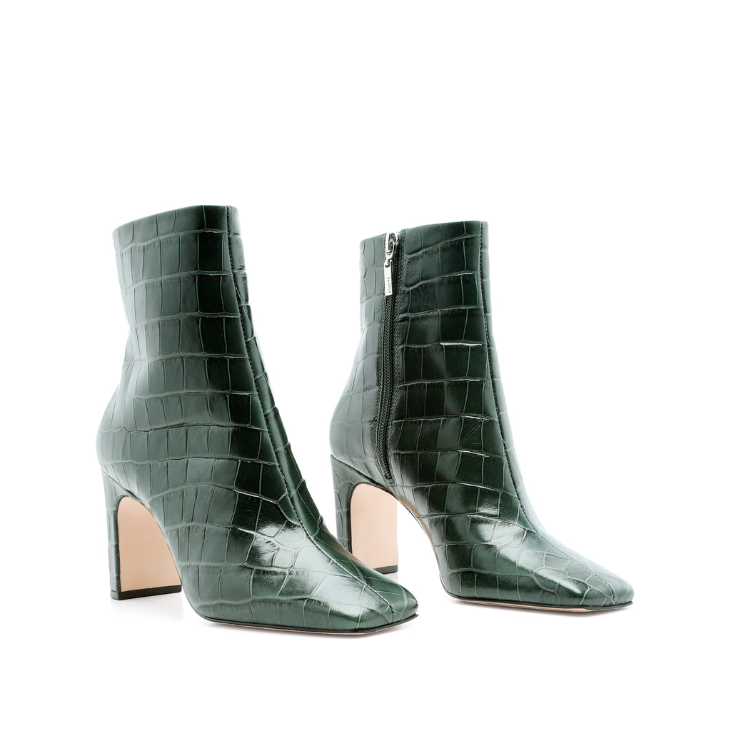 Marion Bootie in Deep Green