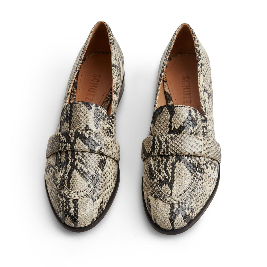 Romina Flat in Natural Snake