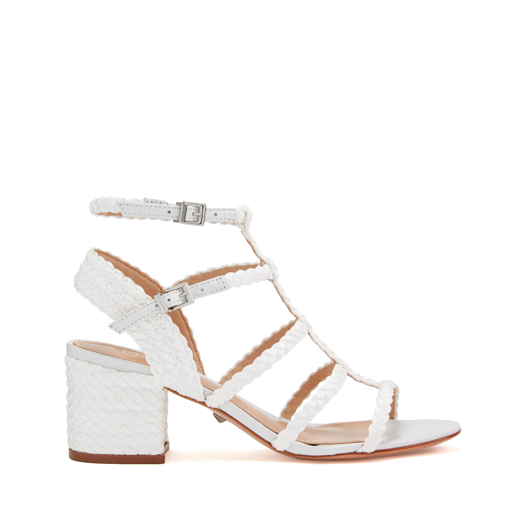 1202ff5986 Rosalia Mid Heel Sandal with Braid Detail | Schutz Shoes – SCHUTZ