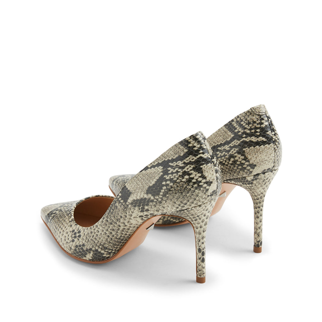 Rosie Pump in Natural Snake