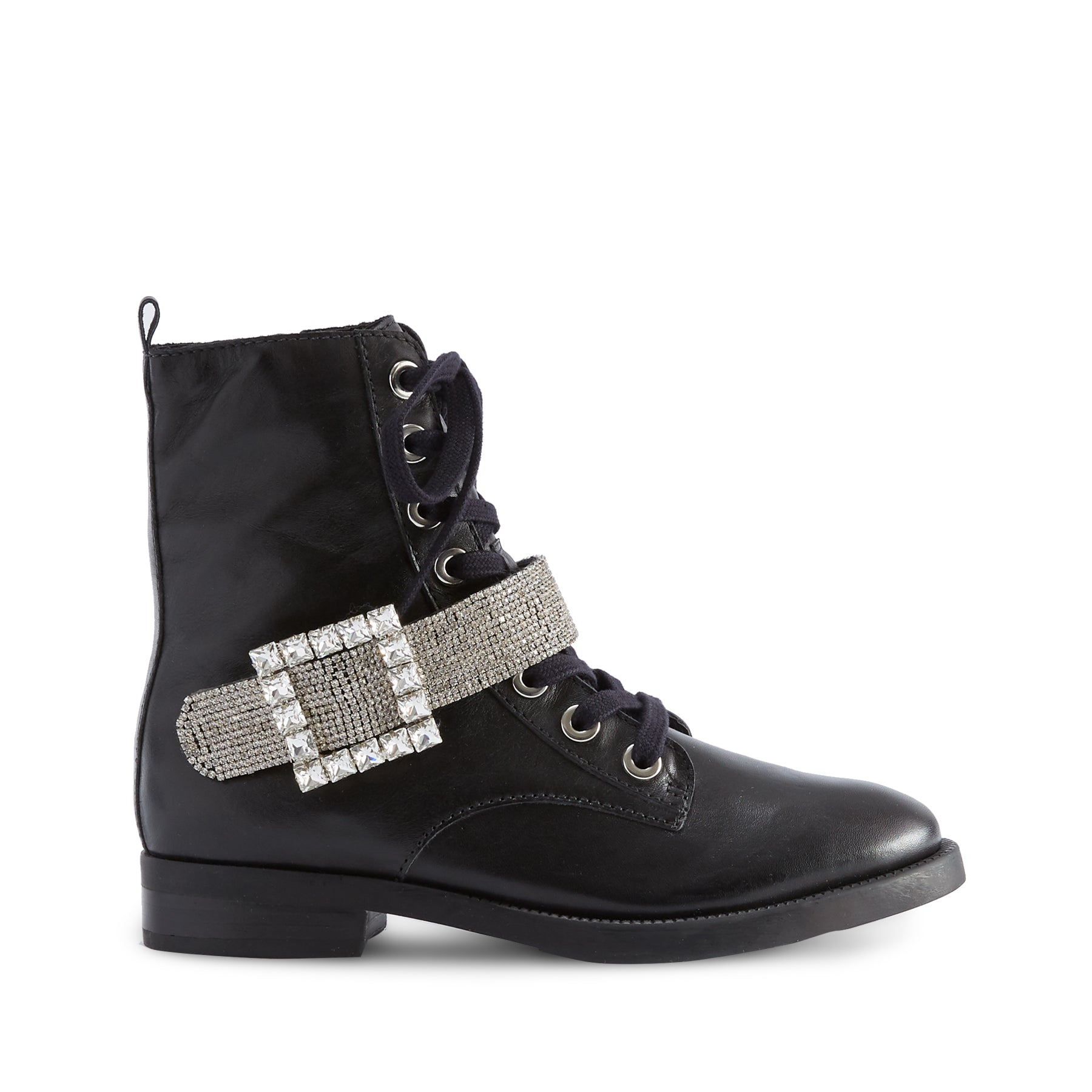 Roxia Booties Black Leather