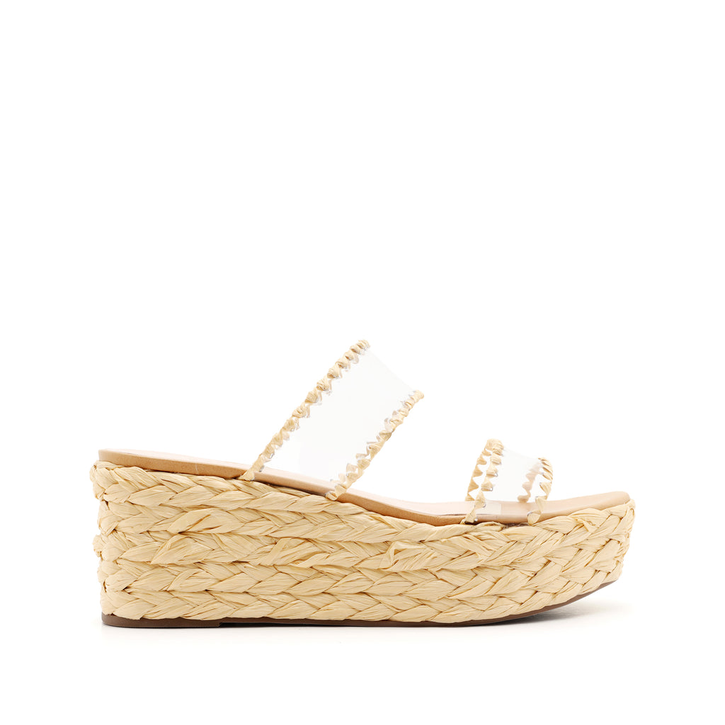 Royce Wedge Sandal in Lightwood