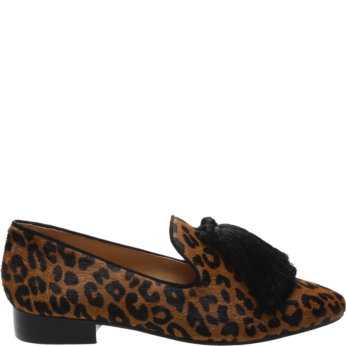 Jeaninne 2 Loafer Flat - Sandstone Leopard Printed Haircalf