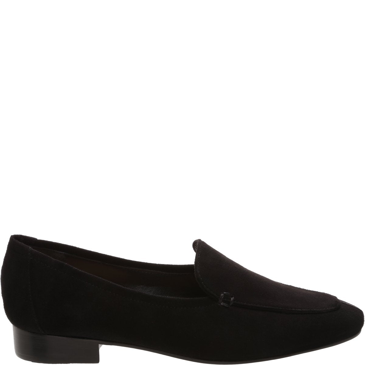 Shania Loafer Flat - Black Suede