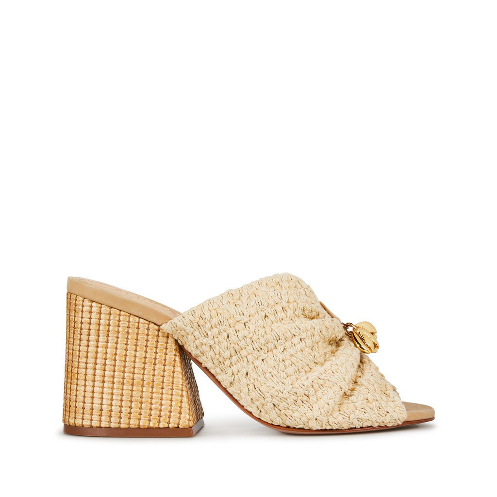Veranice Sandal in Natural Woven