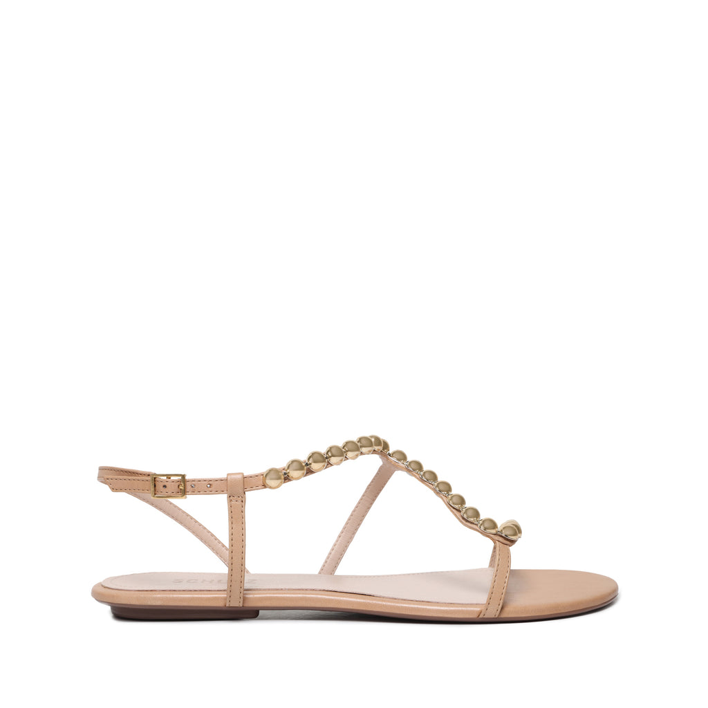 Janda Flat Sandal in Honey Beige