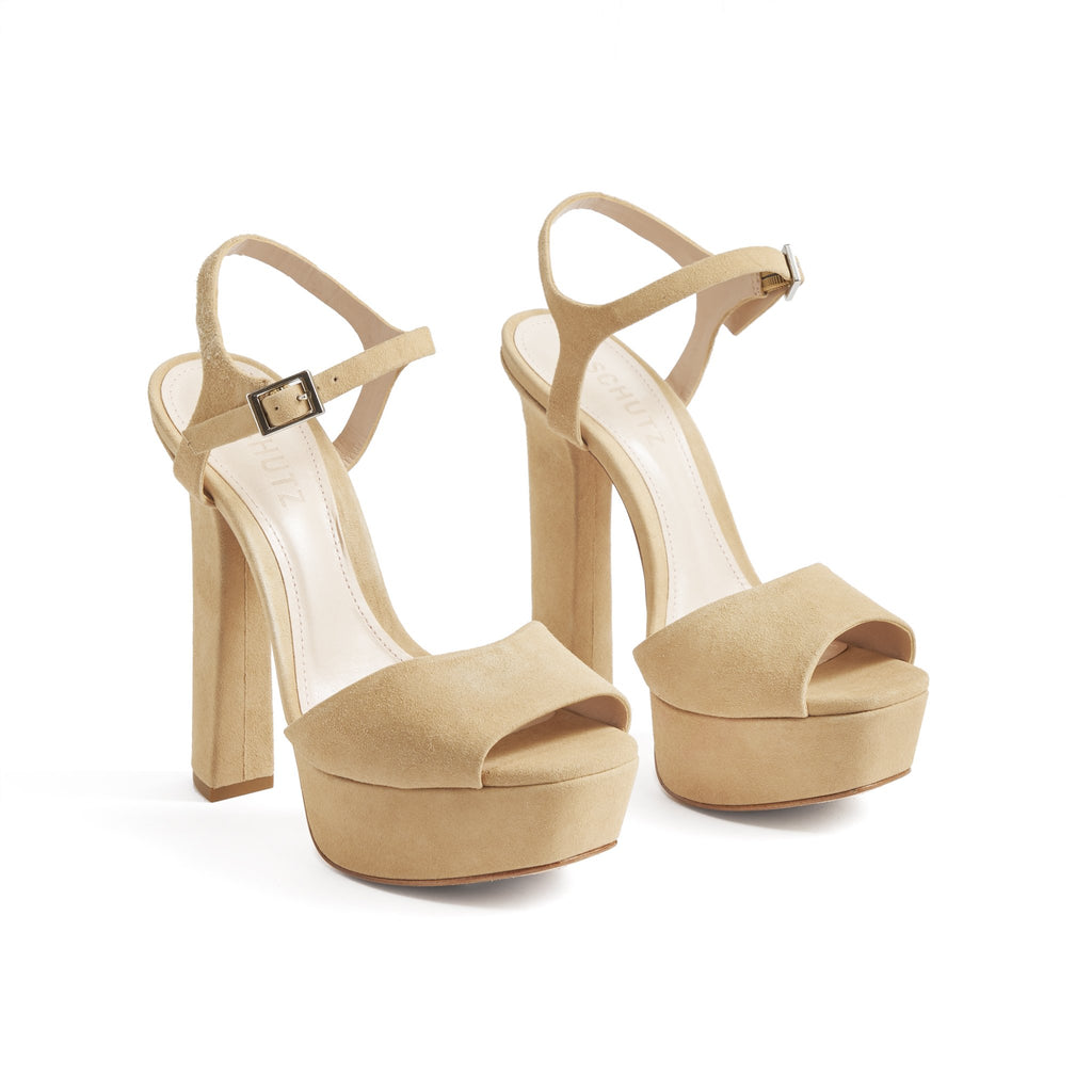 Tamie Sandal in Honey Beige
