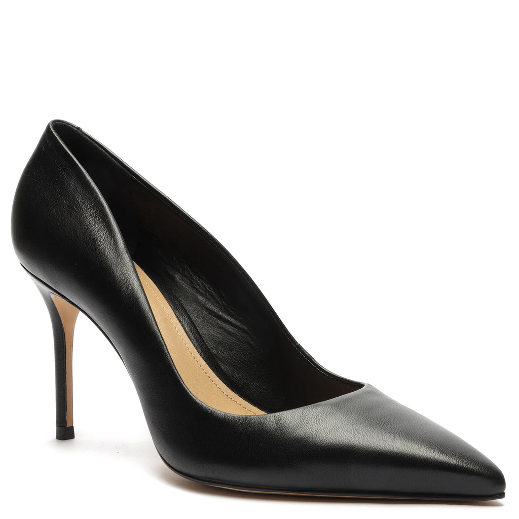 Lou Lo Leather Pump in Black