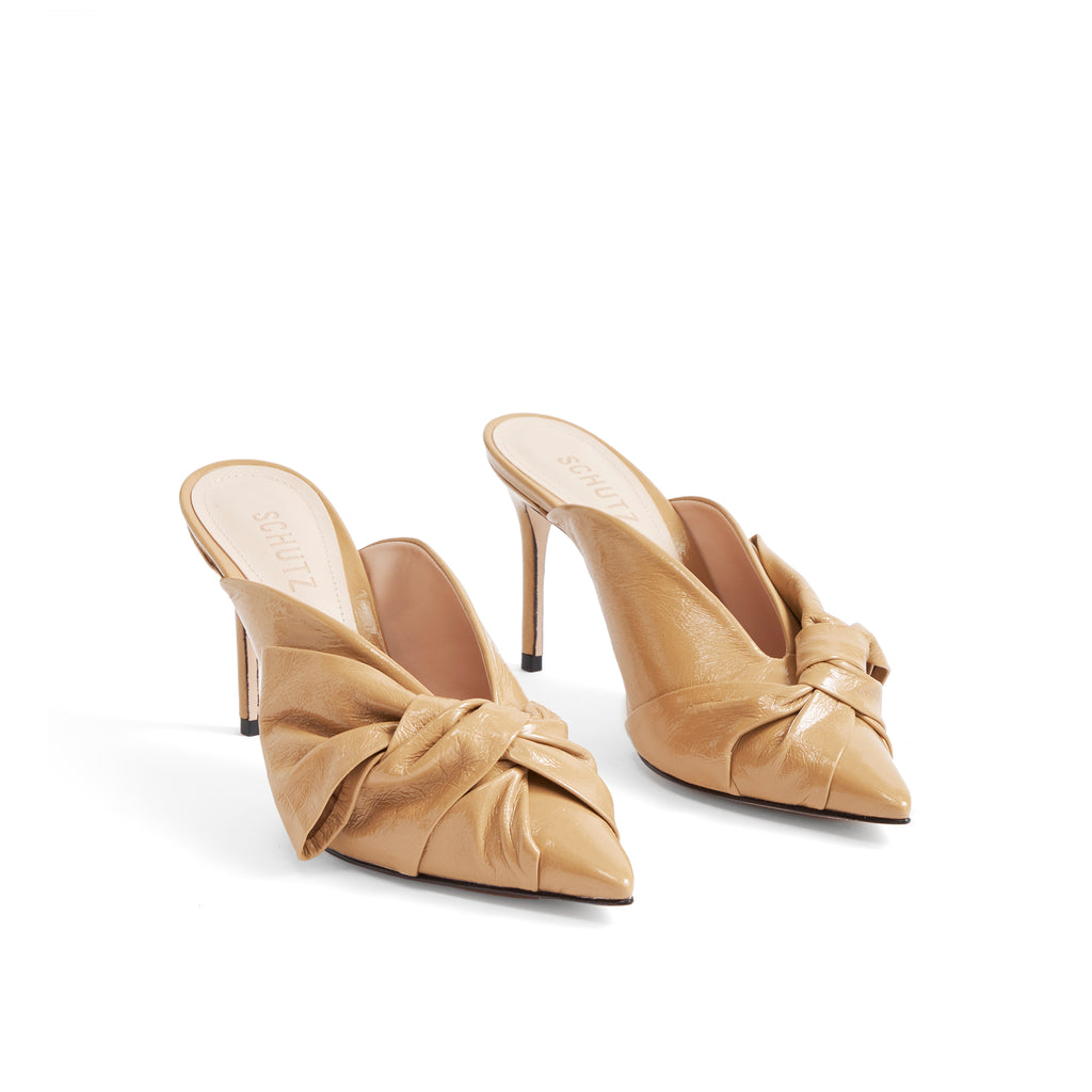 Eleni Mule in Honey Beige