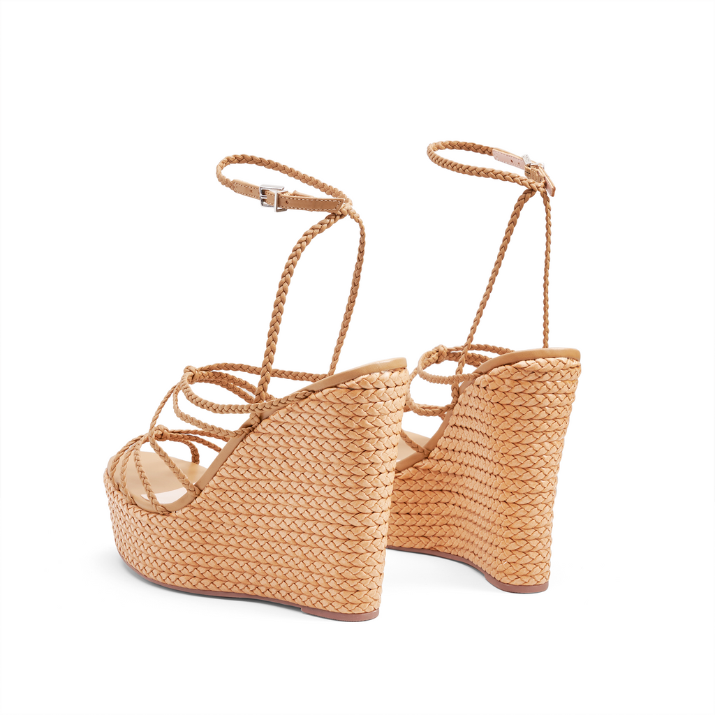Flassie Wedge Sandal in Desert