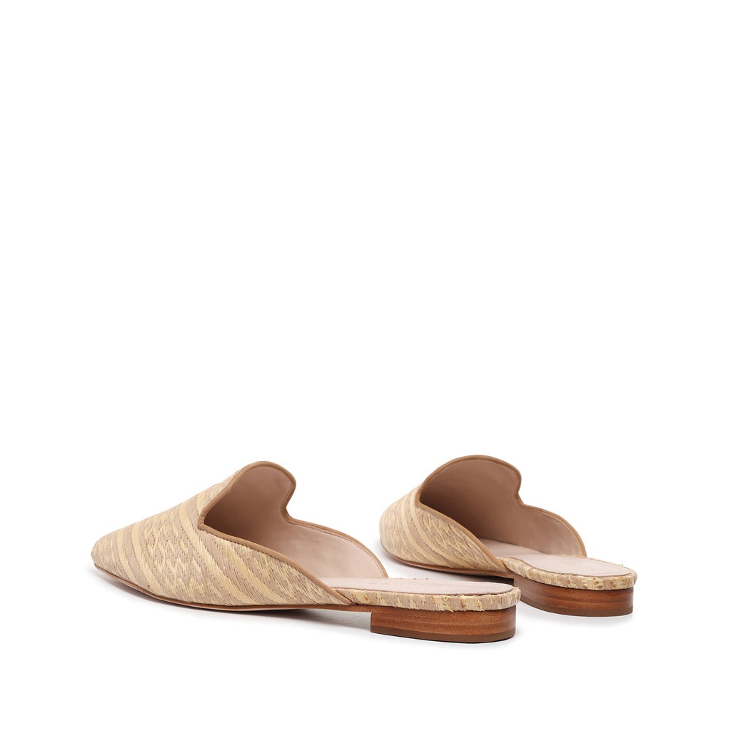 Renly Flat Mule in Natural Raffia
