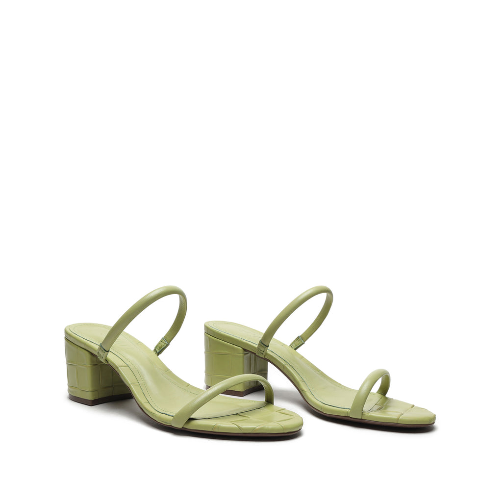 Ray Leather Mule in Green
