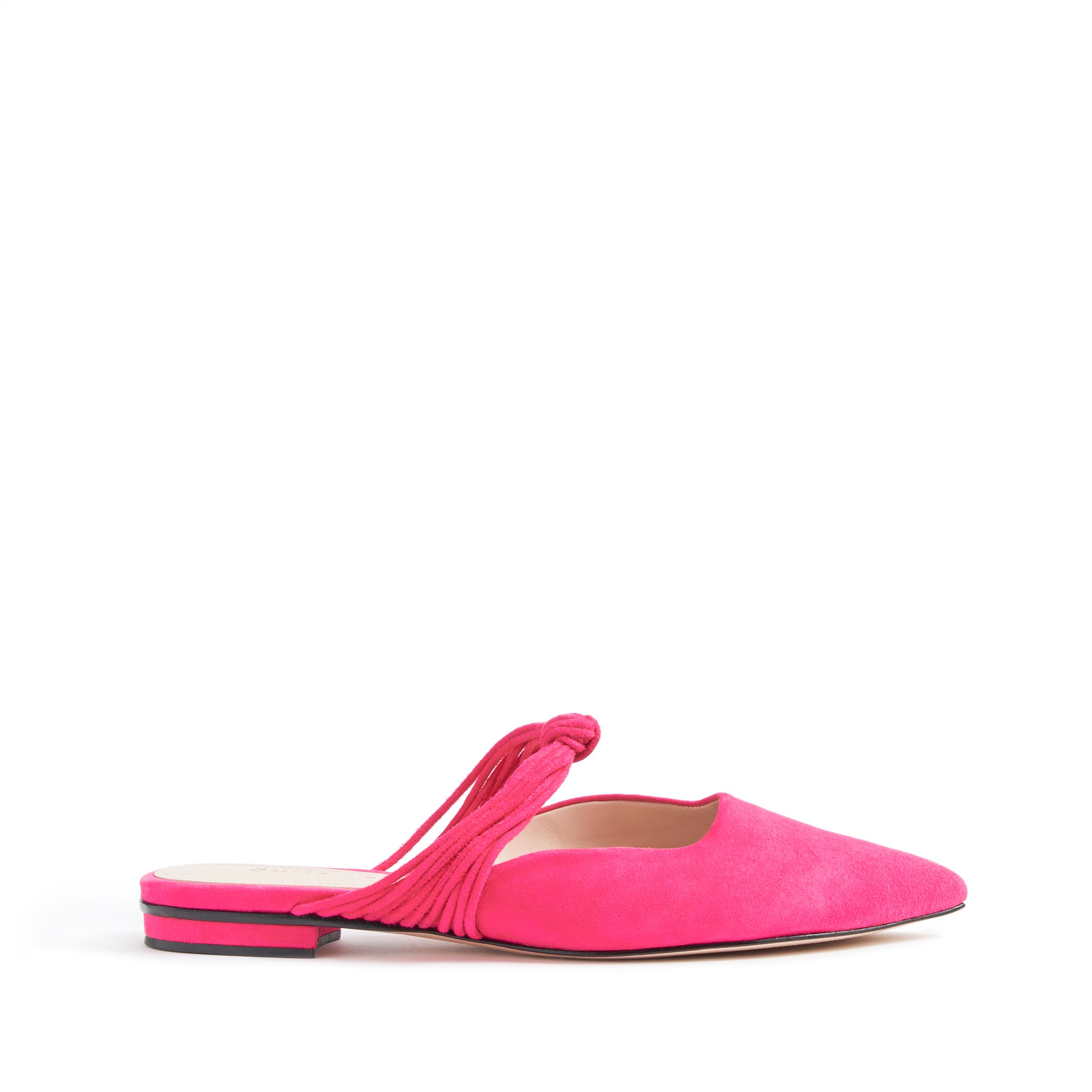 Patriane Flats Mules Vibrant Pink Suede