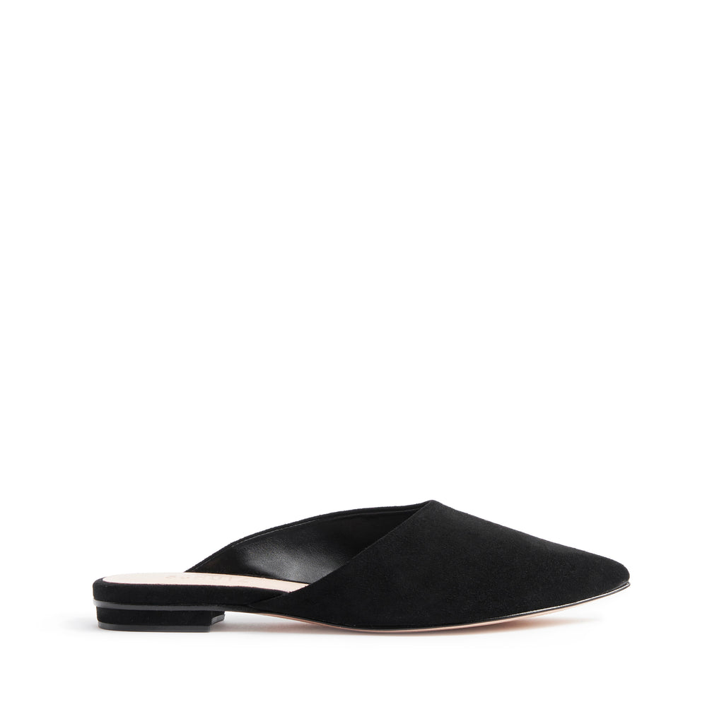 Raylene Flat Mule in Black
