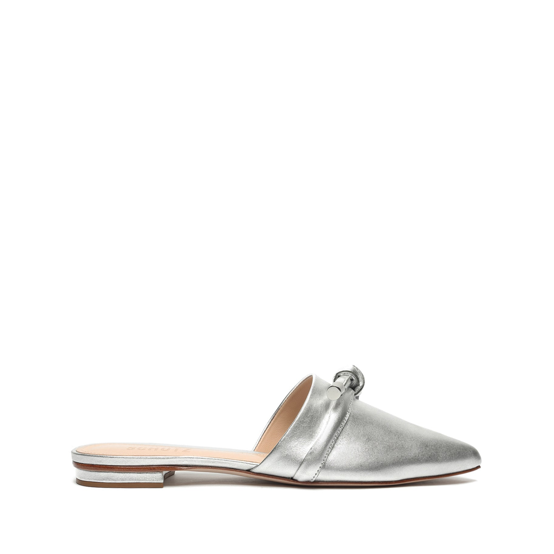 Lay Metallic Leather Mule