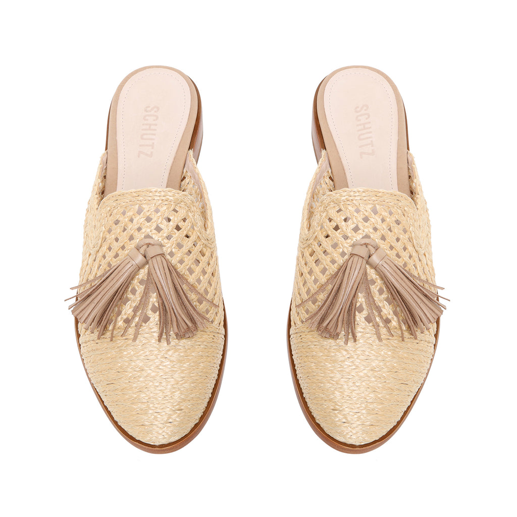 Polyni Flat Mule in Natural