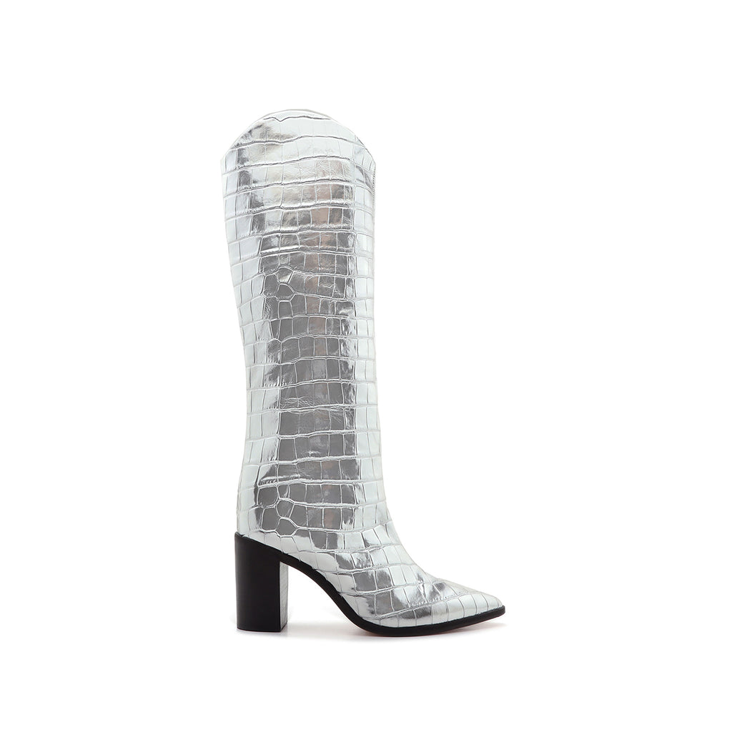 Analeah Boot in Prata Silver