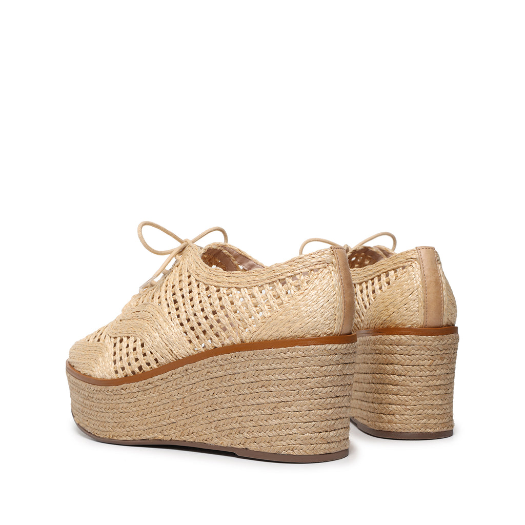 Jules Wedge Espadrille in Natural