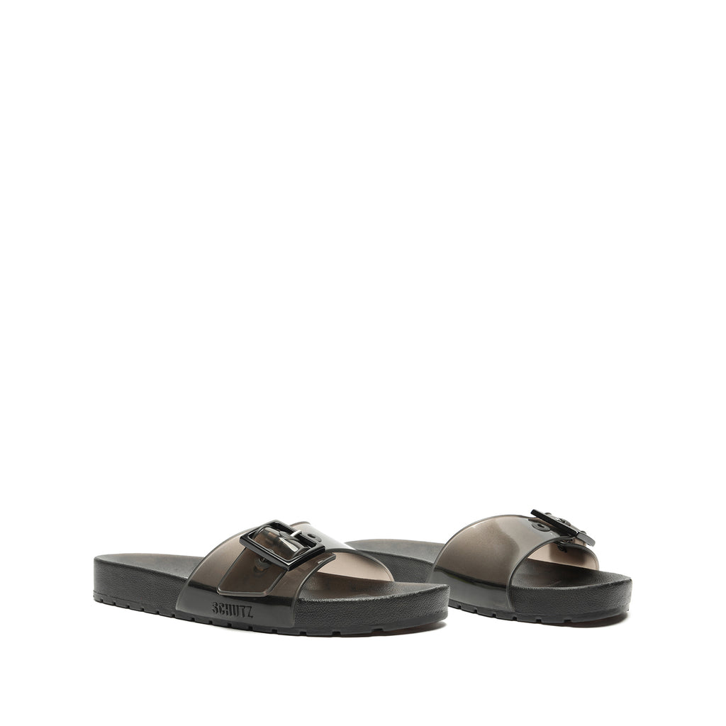 Leann Jelly Sandal in Black