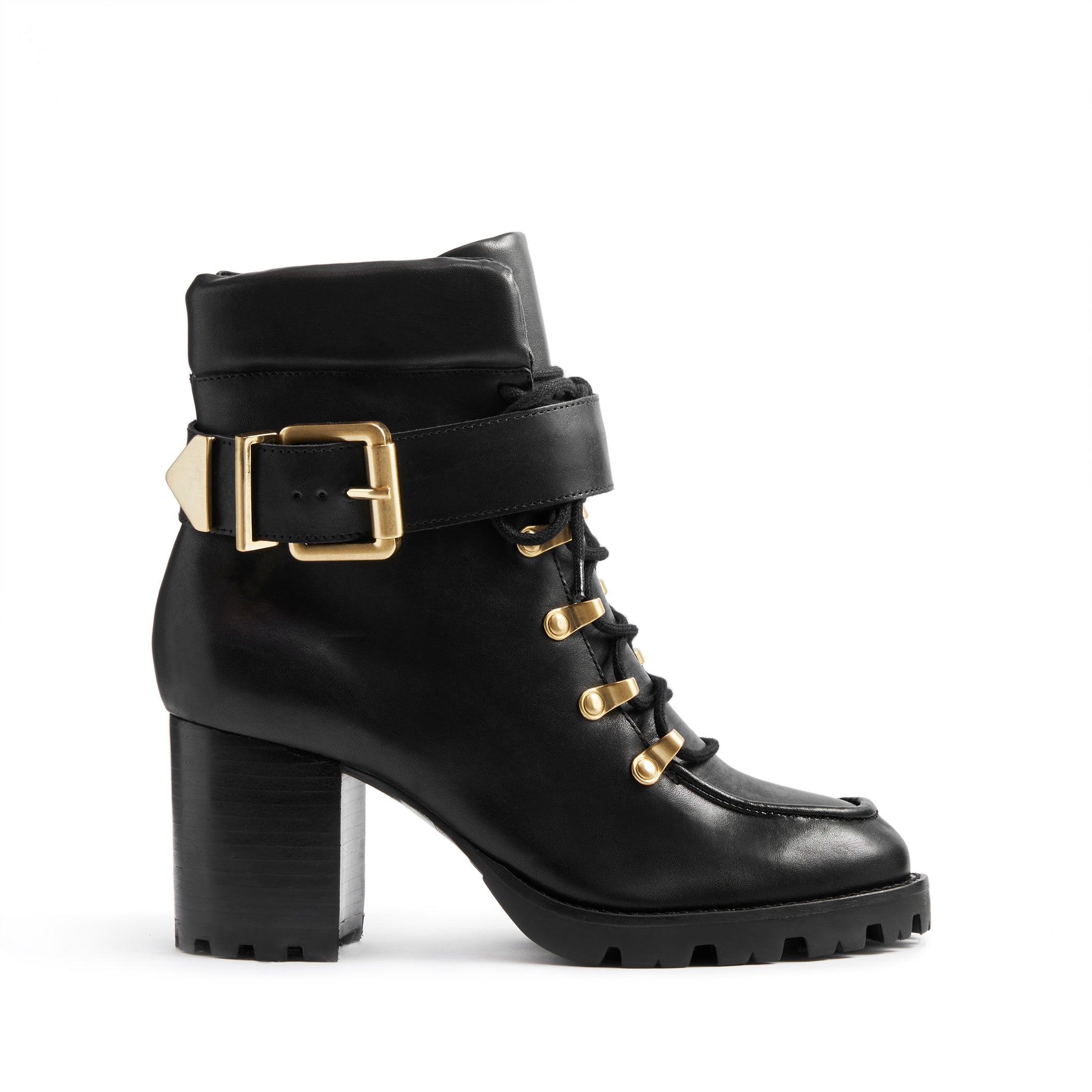 Siggy Booties Black Leather