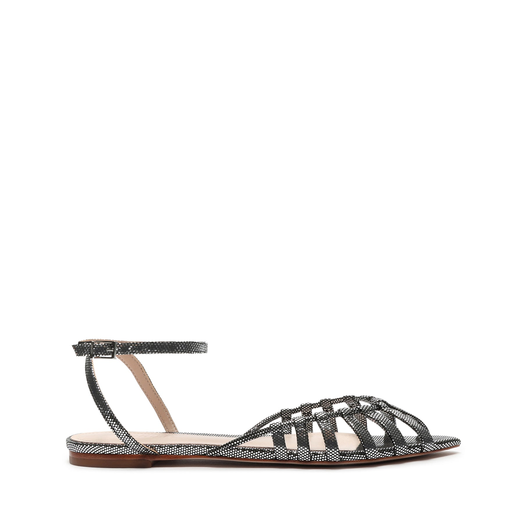 Elia Metallic Leather Flat