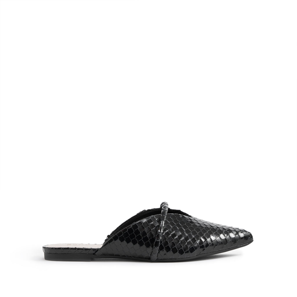 Anuva Flat Mule in Black