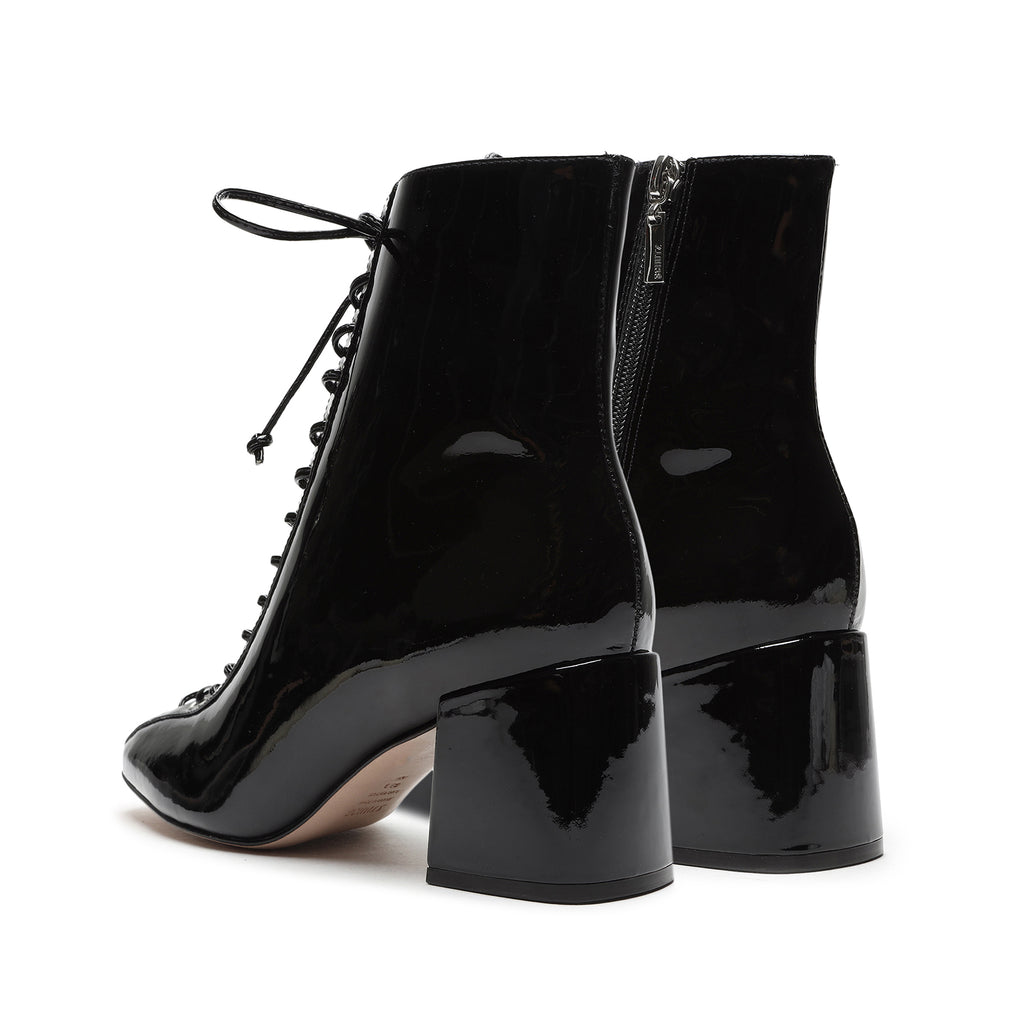 New Kika Patent Leather Bootie in Black