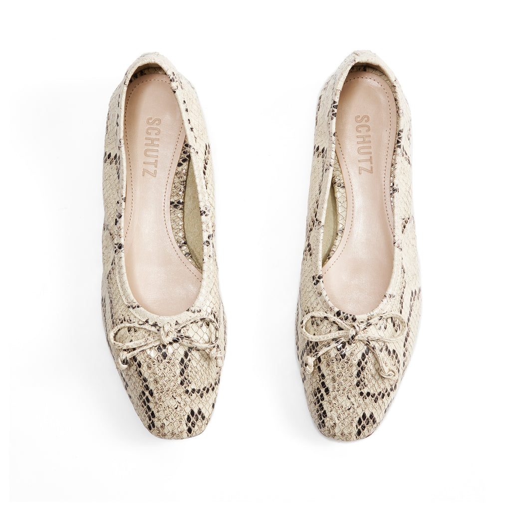 Arissa Flat in Natural Snake