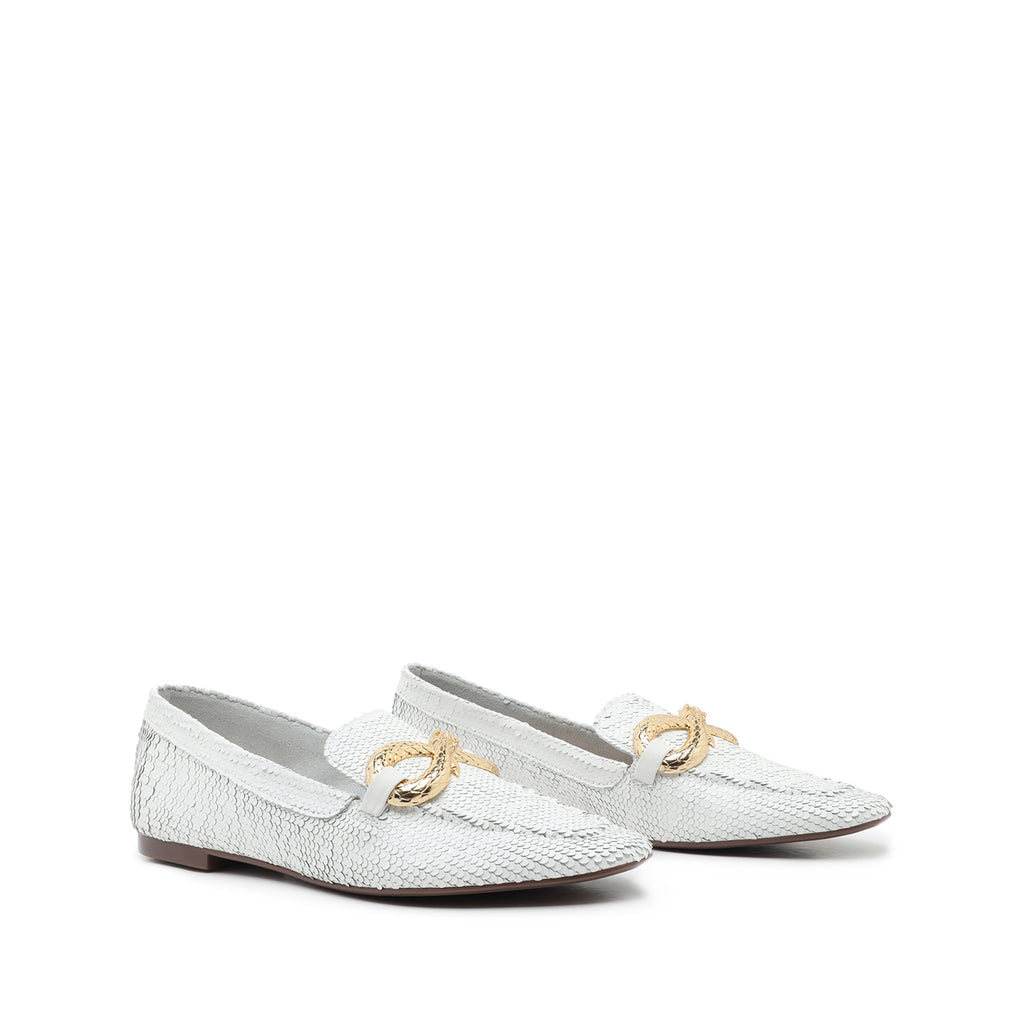 Maggy Flat in White