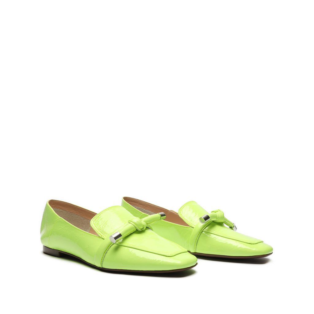 Diann Patent Leather Loafer in Green