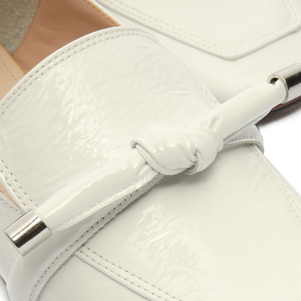 Diann Patent Leather Loafer in White