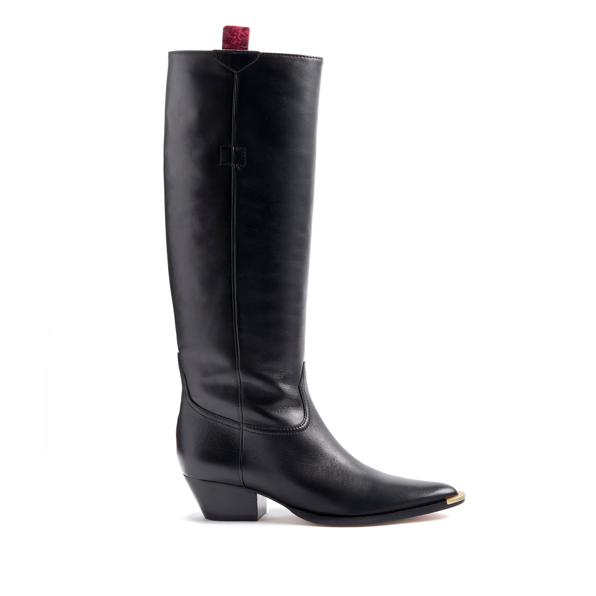 Stacy Boots Black Leather