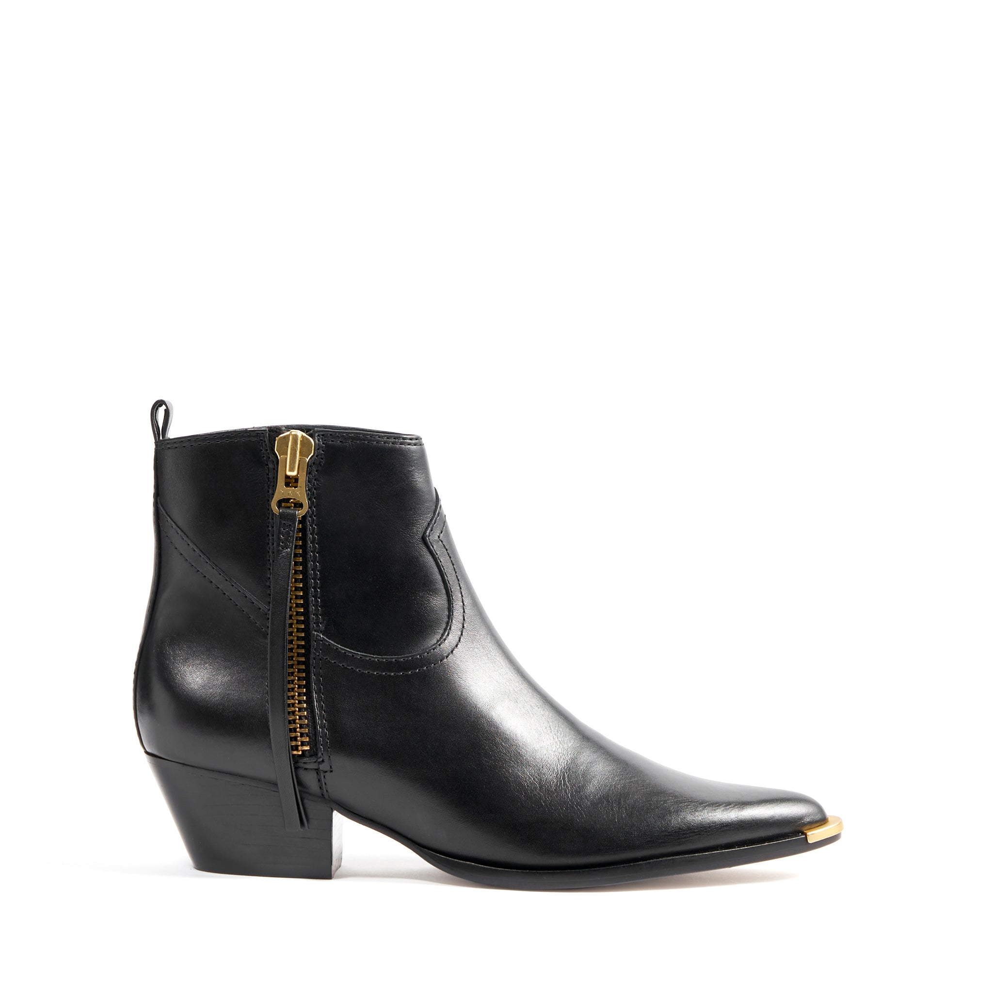 Traci Booties Black Leather