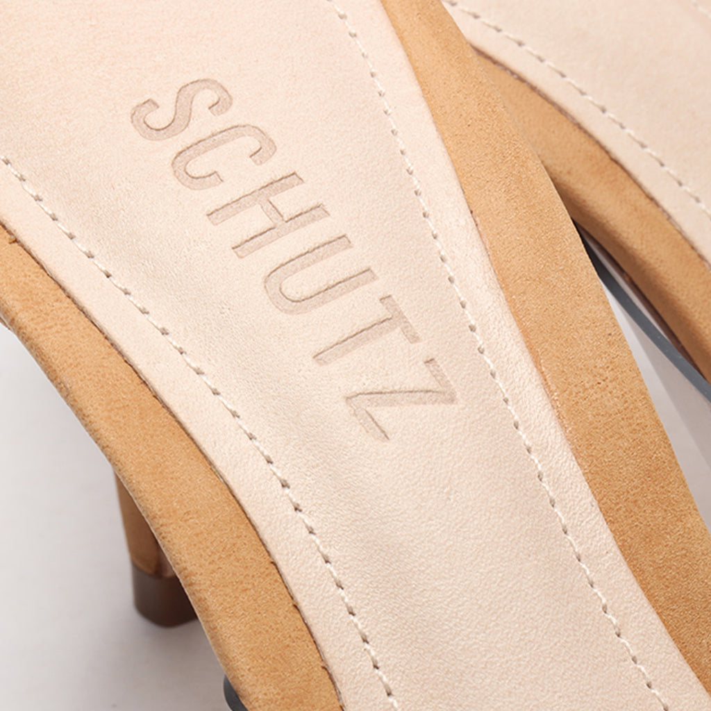 Aspen Vinyl Sandal in Honey Beige