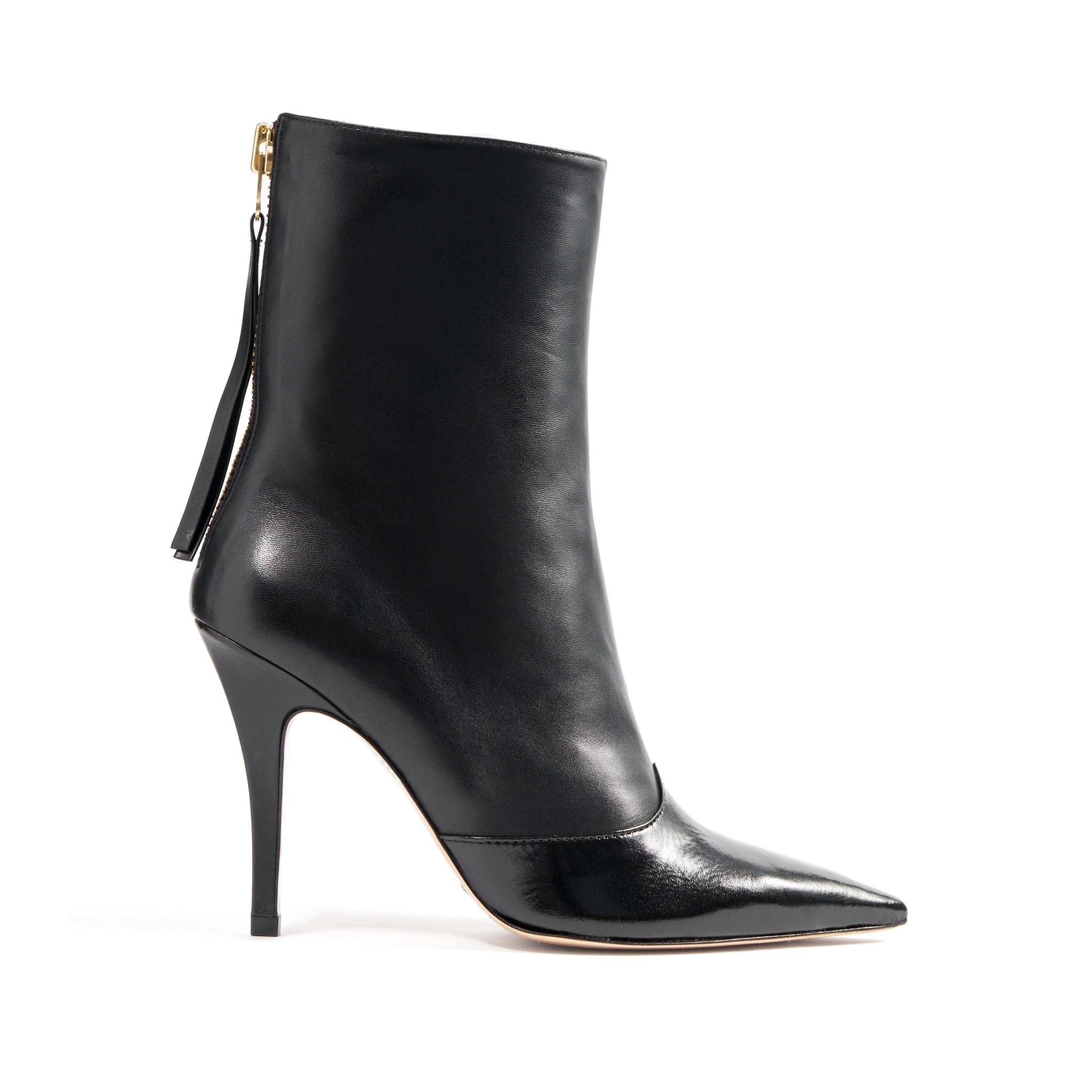 Carlee Booties Black Patent Leather