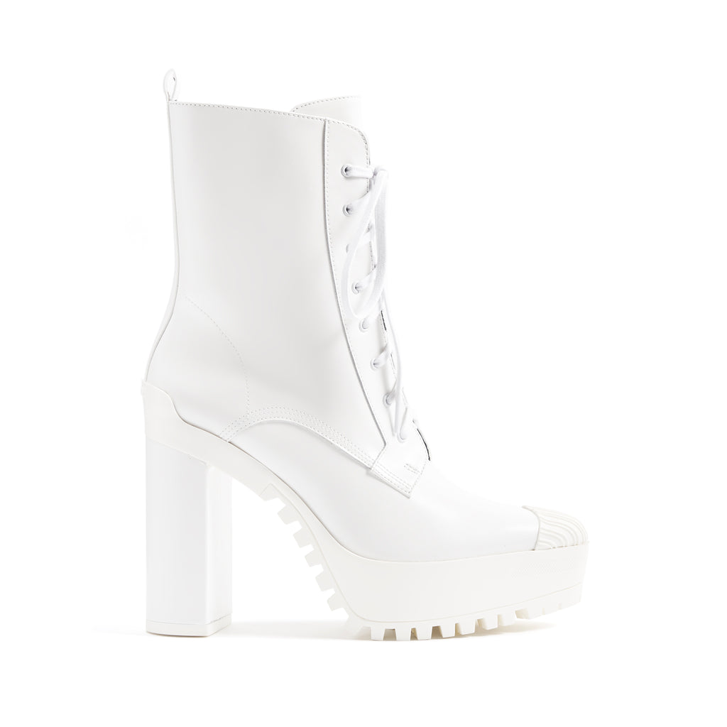 Cassandra Bootie in White