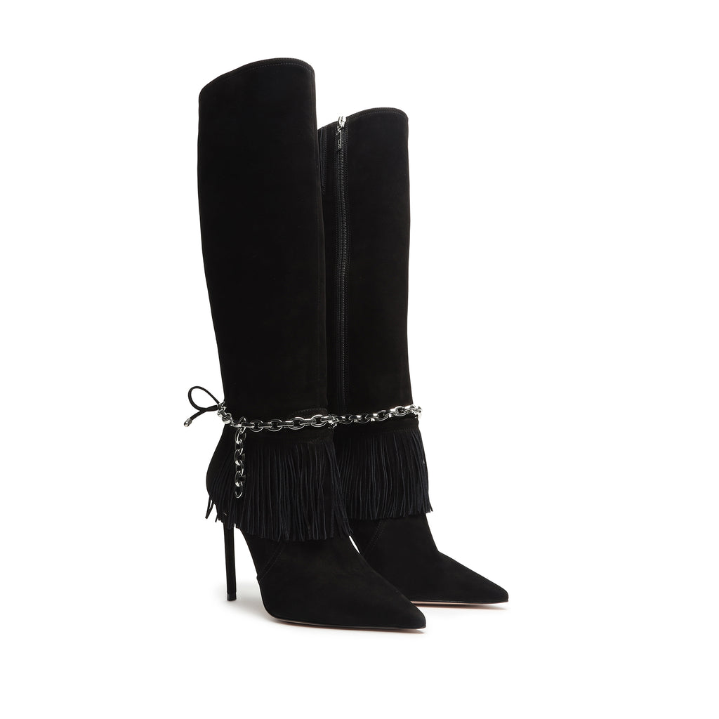 Vickie Suede Boot in Black