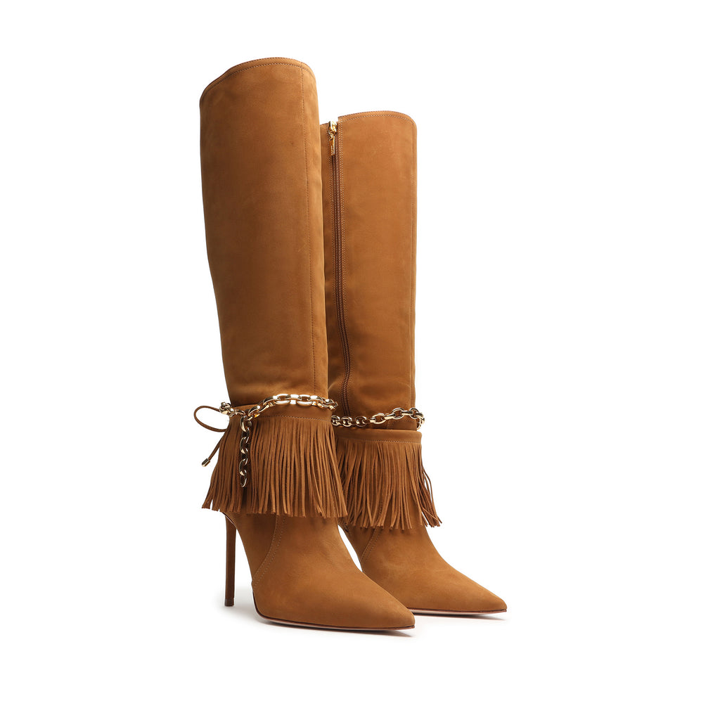Vickie Suede Boot in Hazel