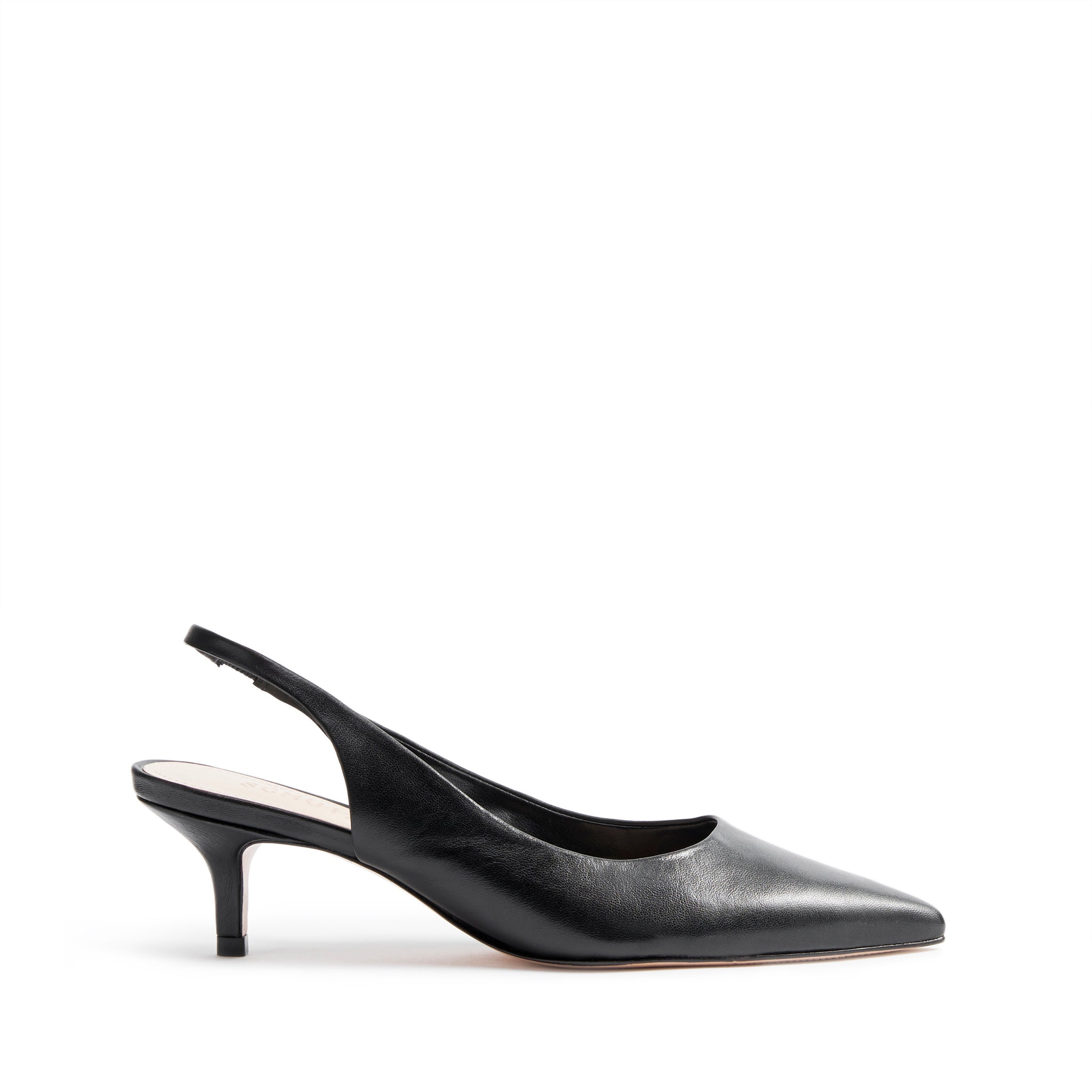 Cambrie Slingback Pumps Black Leather