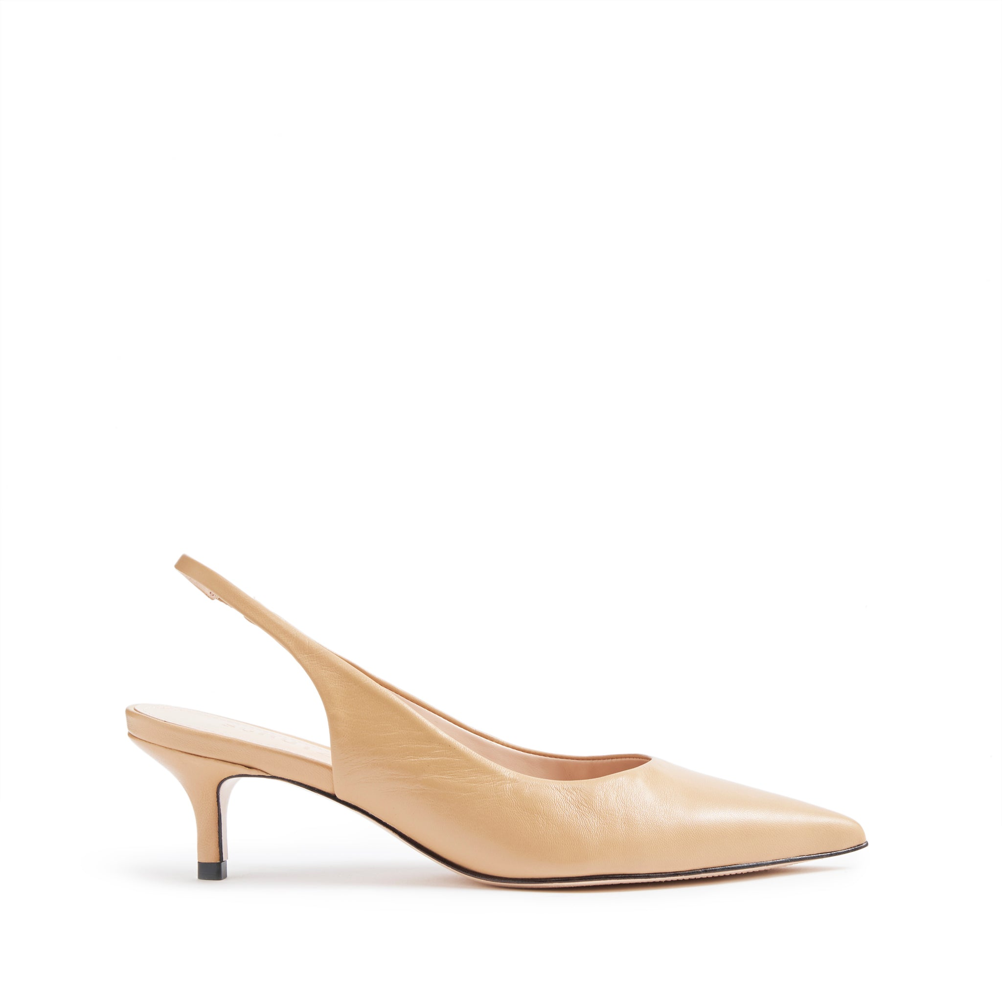 Cambrie Slingback Pumps Honey Beige Leather