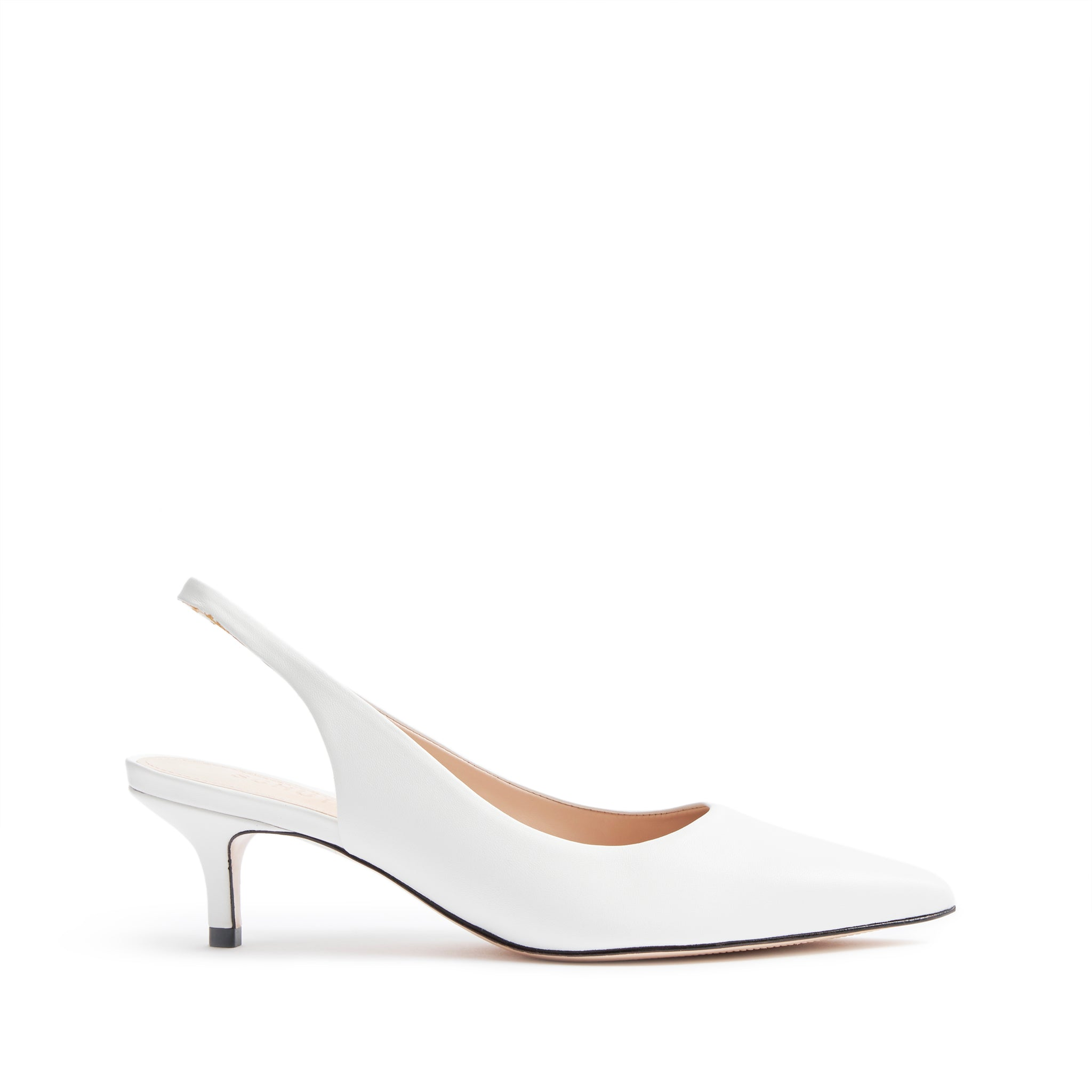Cambrie Slingback Pumps White Leather