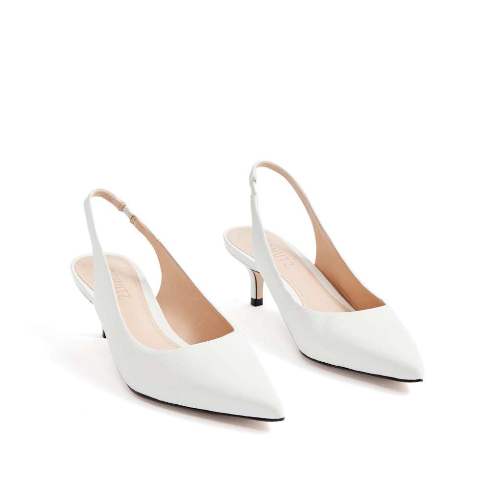Cambrie Slingback Pump in White