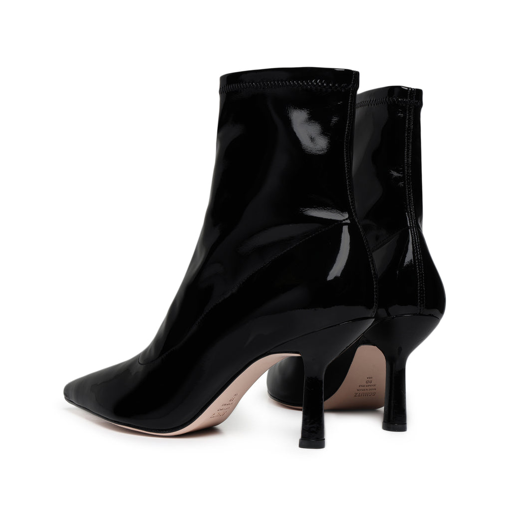 Charleni Patent Leather Bootie in Black